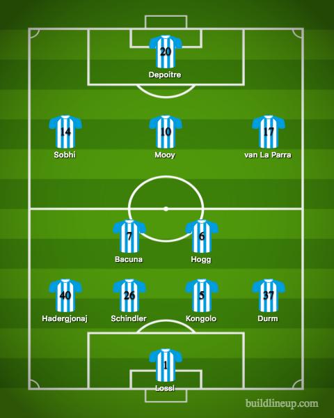 Huddersfield Town Lineup