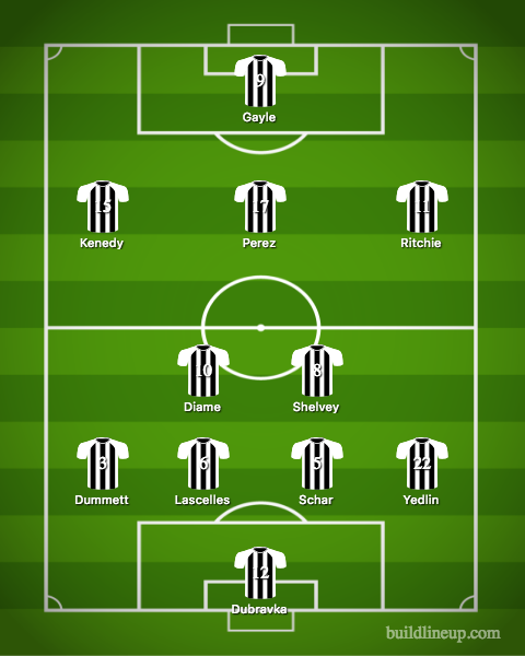 Newcastle United Lineup