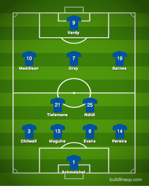 Leicester City-Brighton and Hove Albion (2)